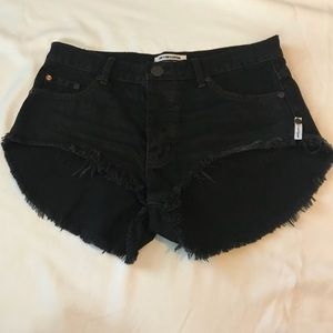 black one teaspoon rollers shorts size 27